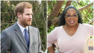 El príncipe Harry y la conductora Oprah Winfrey