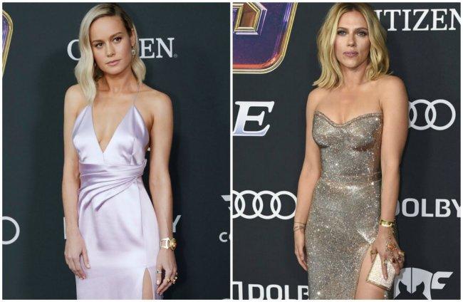 3cb333b324a7 Scarlett Johansson y Brie Larson usaron joyería inspirada en Thanos en  premier de Avengers
