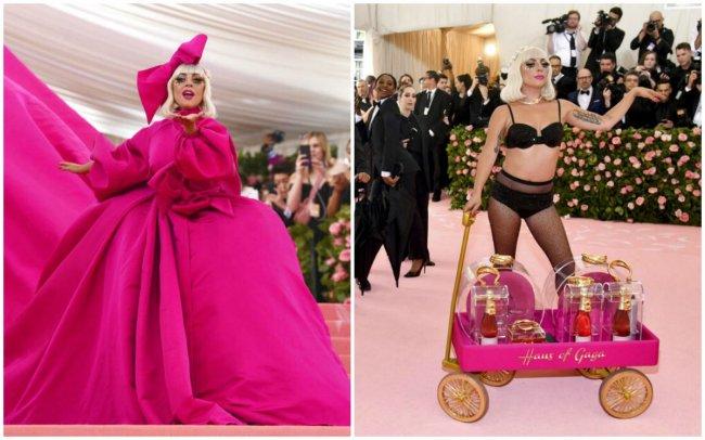 38b74cbbf6 Lady Gaga no usó uno sino ¡cuatro vestidos! Para el Met Gala 2019